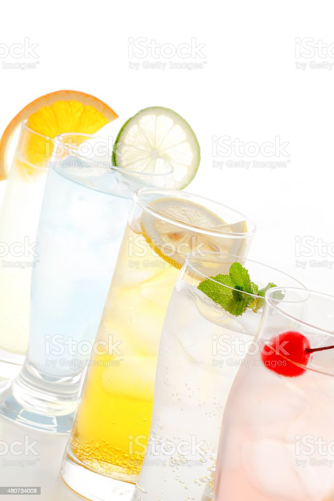 Fashionable cold drink stock photo