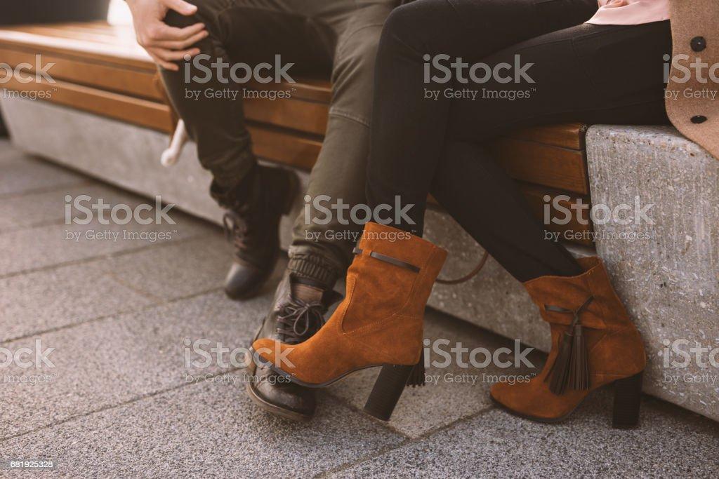 Leg flirting