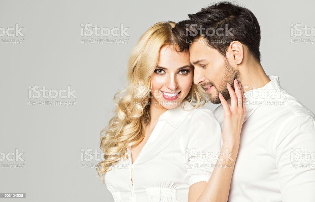 Fashionable couple stock photo