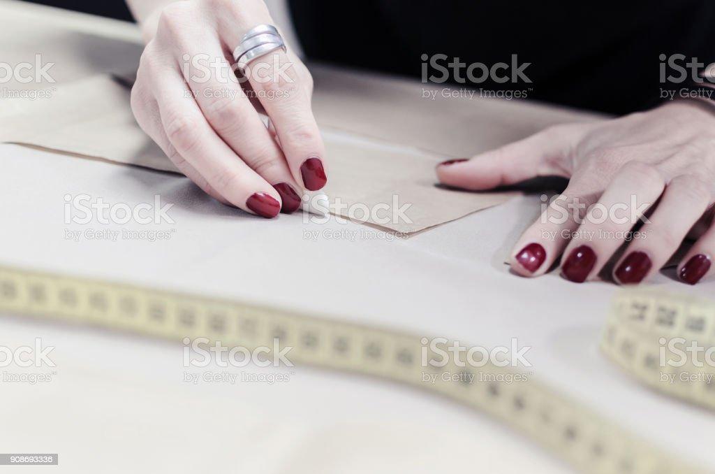 Fashionable design close-up. stock photo