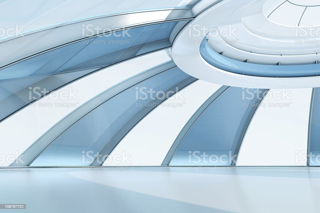 Fashionable future interior template stock photo