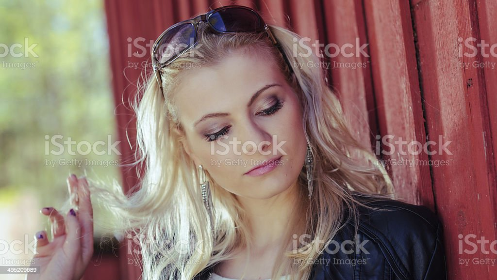 Fashionable girl stock photo