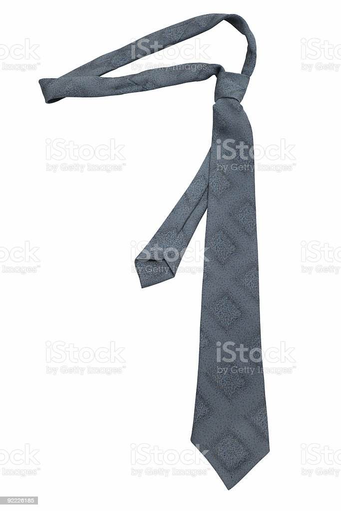 Fashionable grey necktie royalty-free stock photo