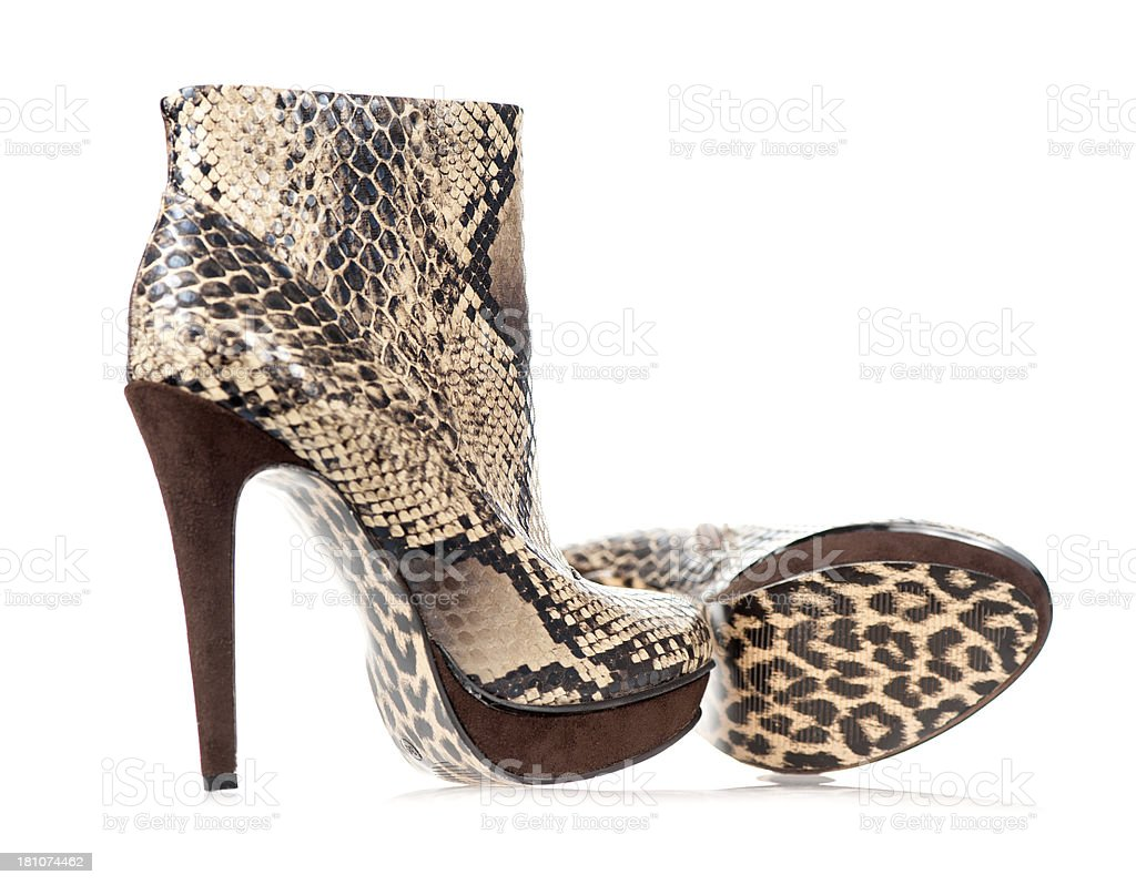 Fashionable high heels ankle boot royalty-free stock photo