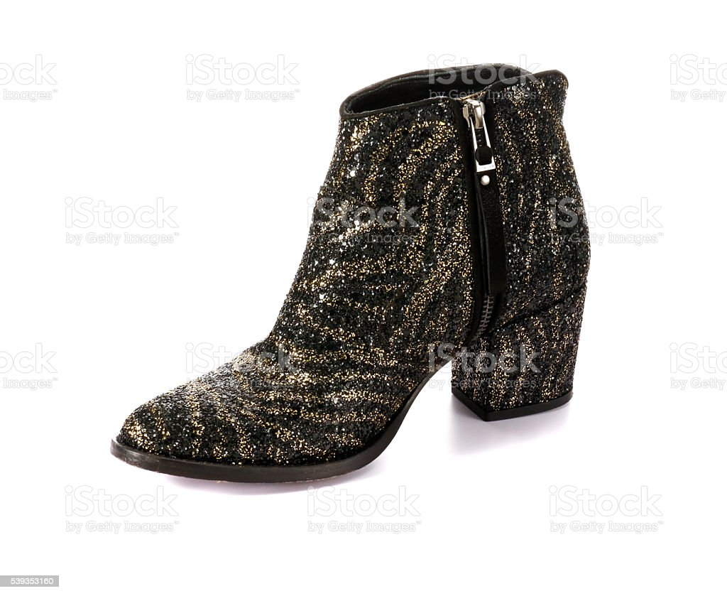 Fashionable High Heels Ankle Boots stock photo