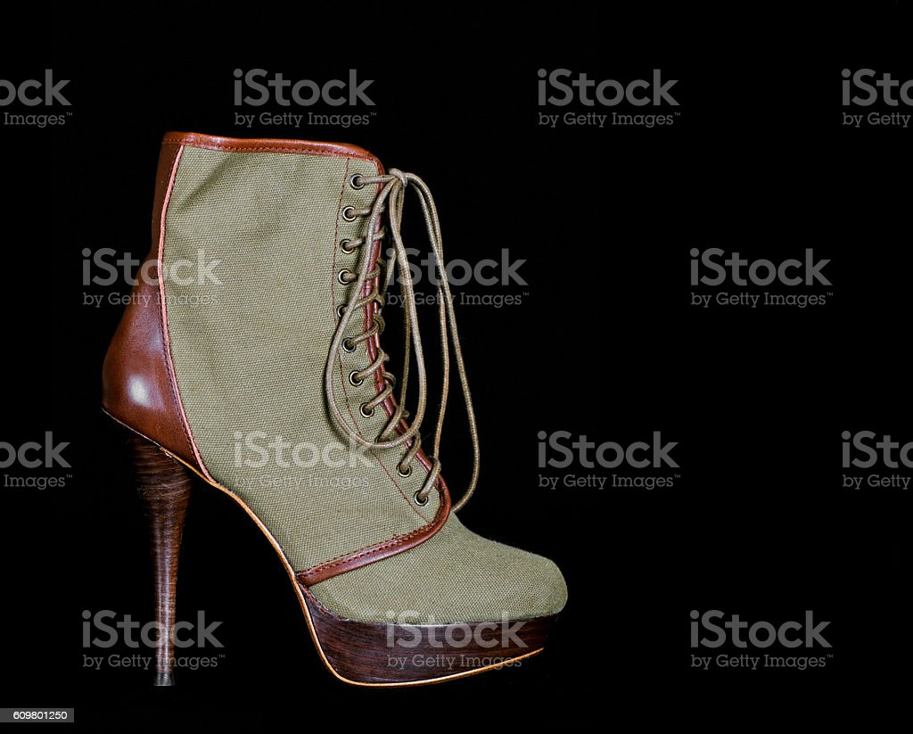 Fashionable Lace Up Boot stock photo