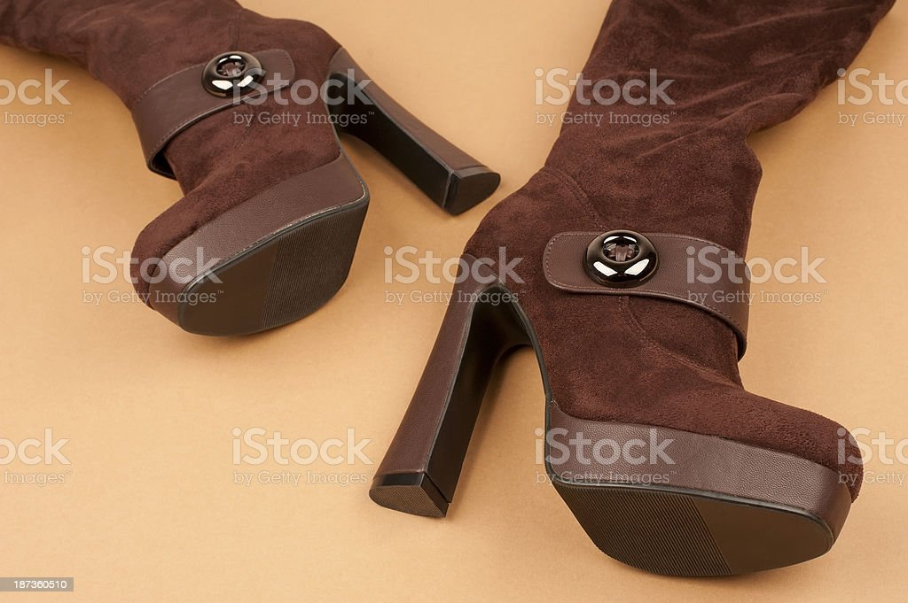 Fashionable Leather Boots royalty-free stock photo