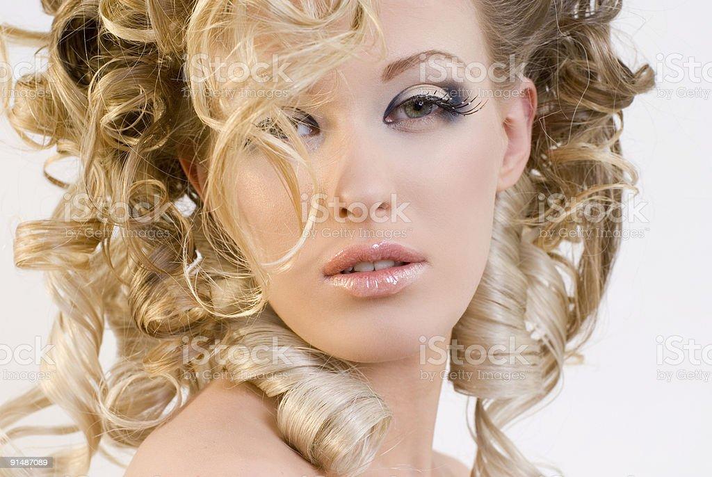 fashionable make-up royalty-free stock photo