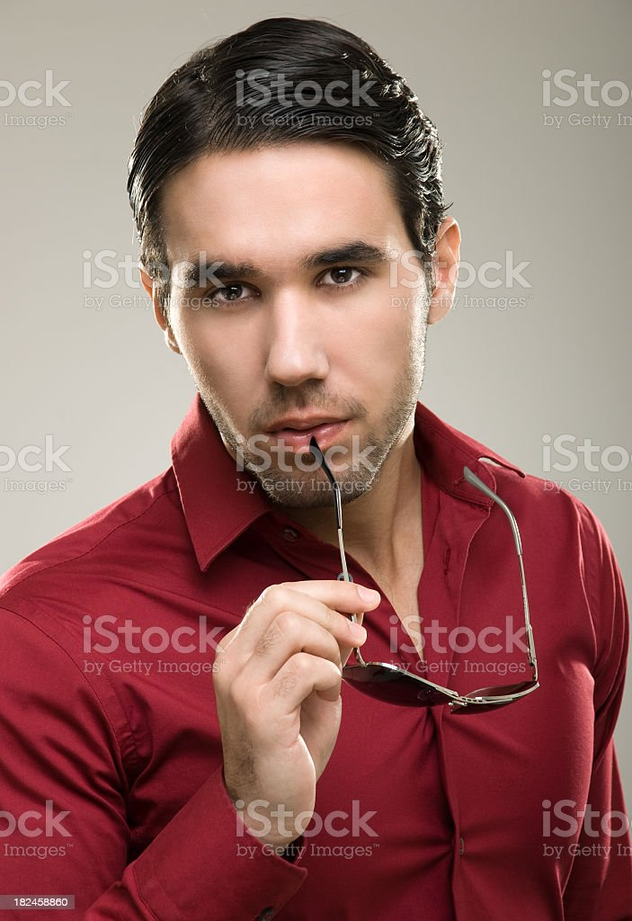 Modelo de moda macho foto de stock libre de derechos