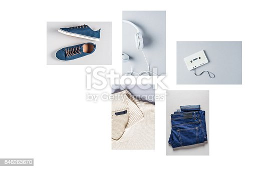 917262406istockphoto Fashionable men's clothing. Jeans and accessories 846263670