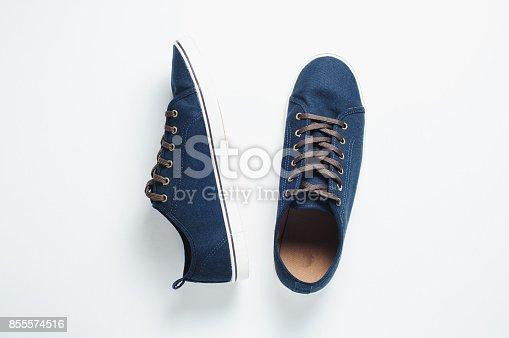917262406 istock photo Fashionable men's shoes isilated on white background 855574516