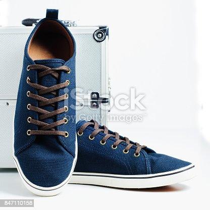 917262406istockphoto Fashionable men's shoes isolated on white background 847110158
