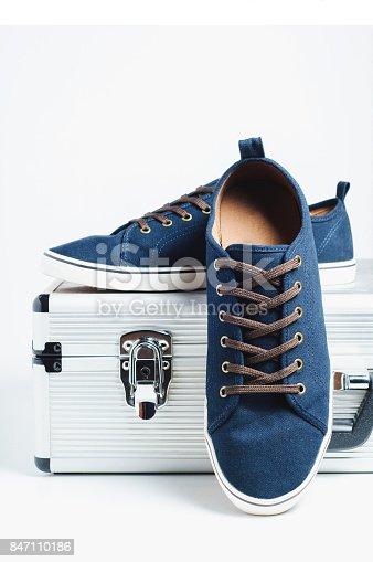 917262406istockphoto Fashionable men's shoes isolated on white background 847110186