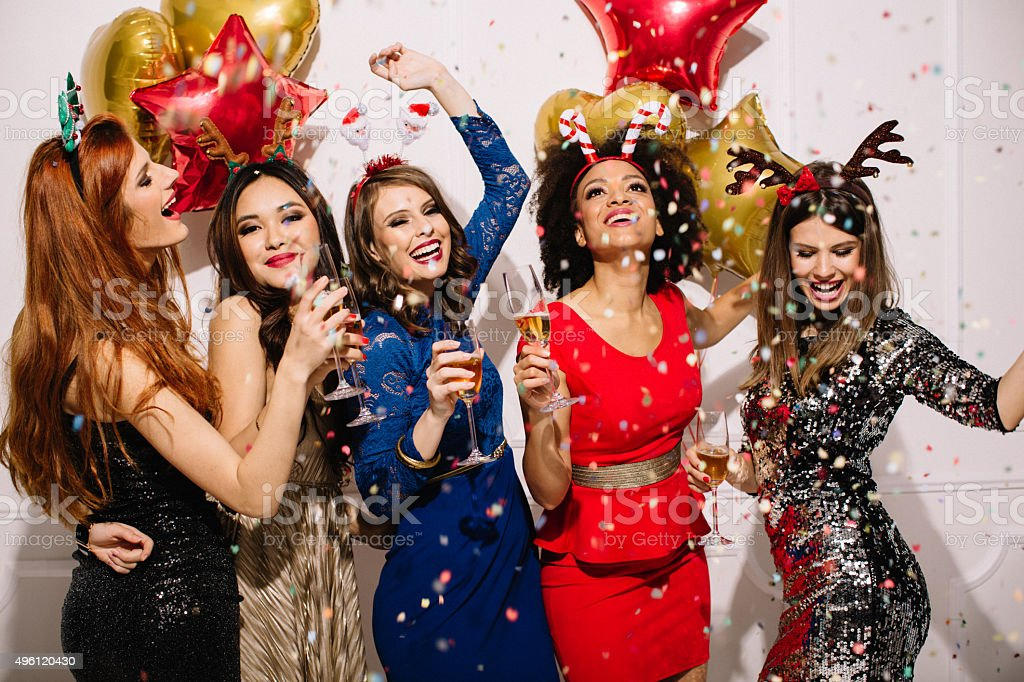 Fashionable New Year's party. stock photo