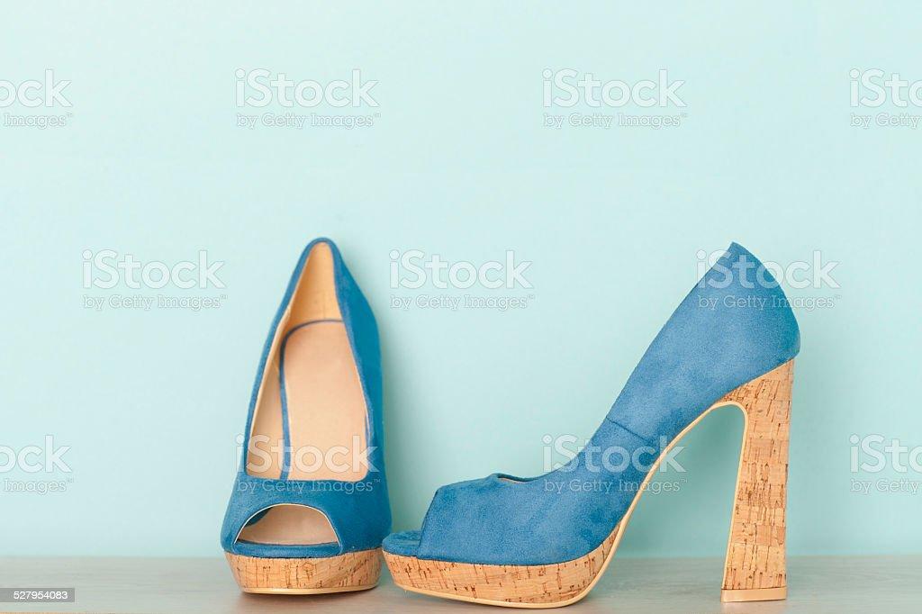 Fashionable Peeptoe High Heels stock photo