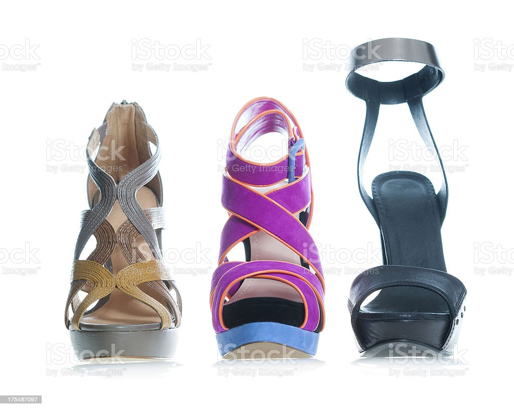 Fashionable platform High Heels sandal in fancy colors royalty-free stock photo