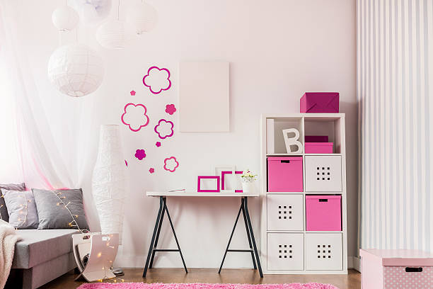 Fashionable room with modern furniture Image of fashionable room with modern child furniture girl bedroom stock pictures, royalty-free photos & images