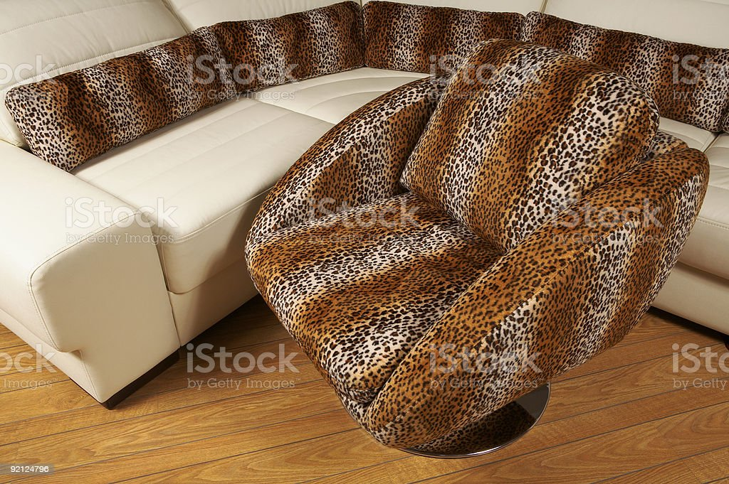 Fashionable spotty armchair royalty-free stock photo