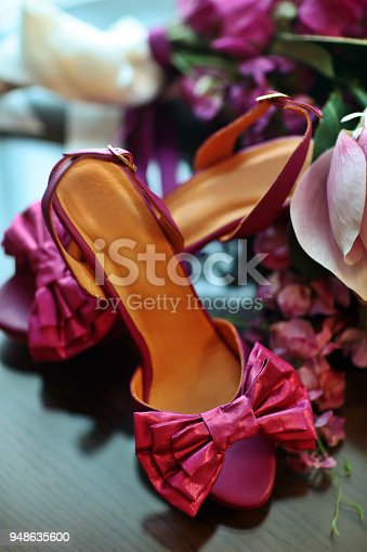 High-heeled women's shoes