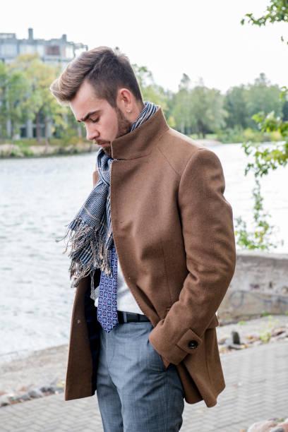 fashionable, thoughtful businessman - double exposure стоковые фото и изображения