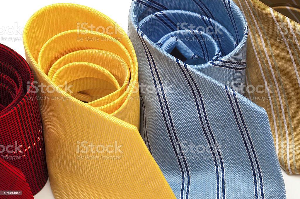 fashionable ties royalty-free stock photo