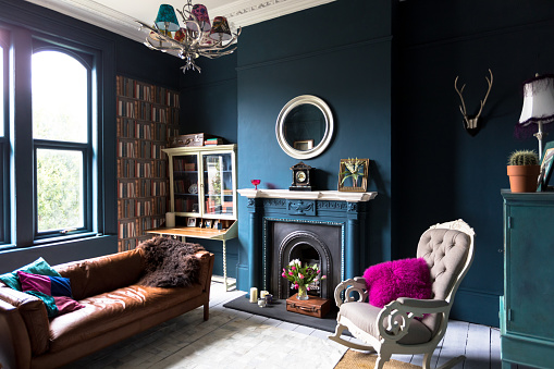 Fashionable vintage styled living room