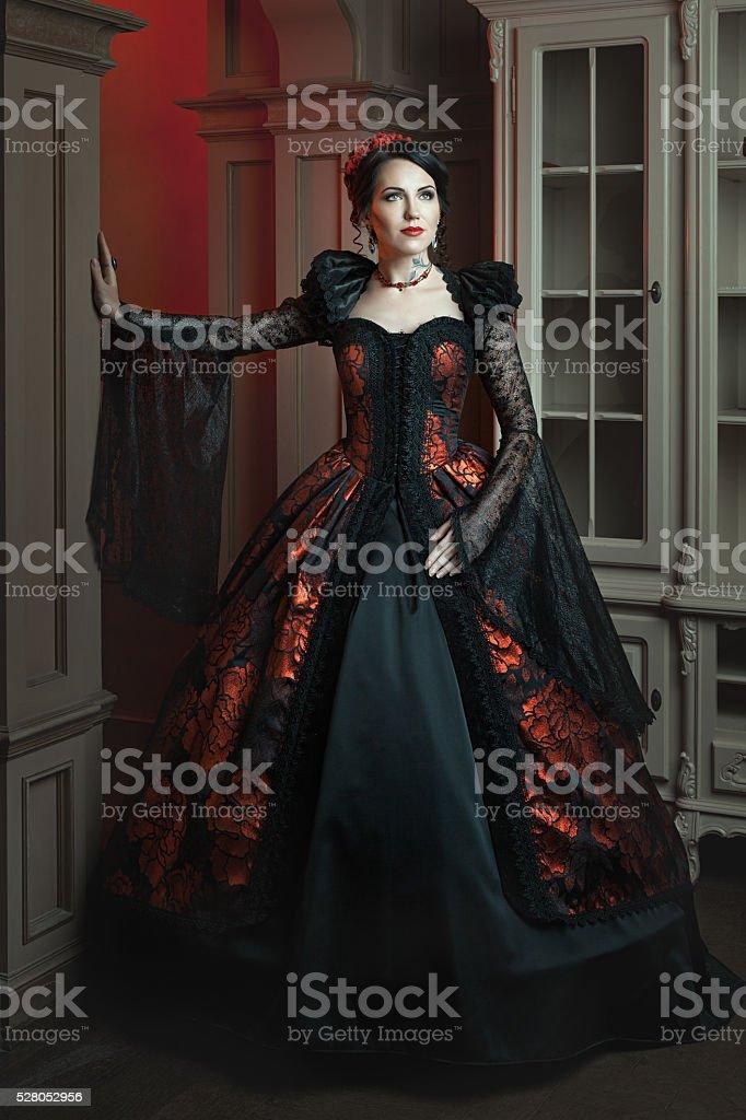 Moda mulher em um estilo antigo. - foto de acervo