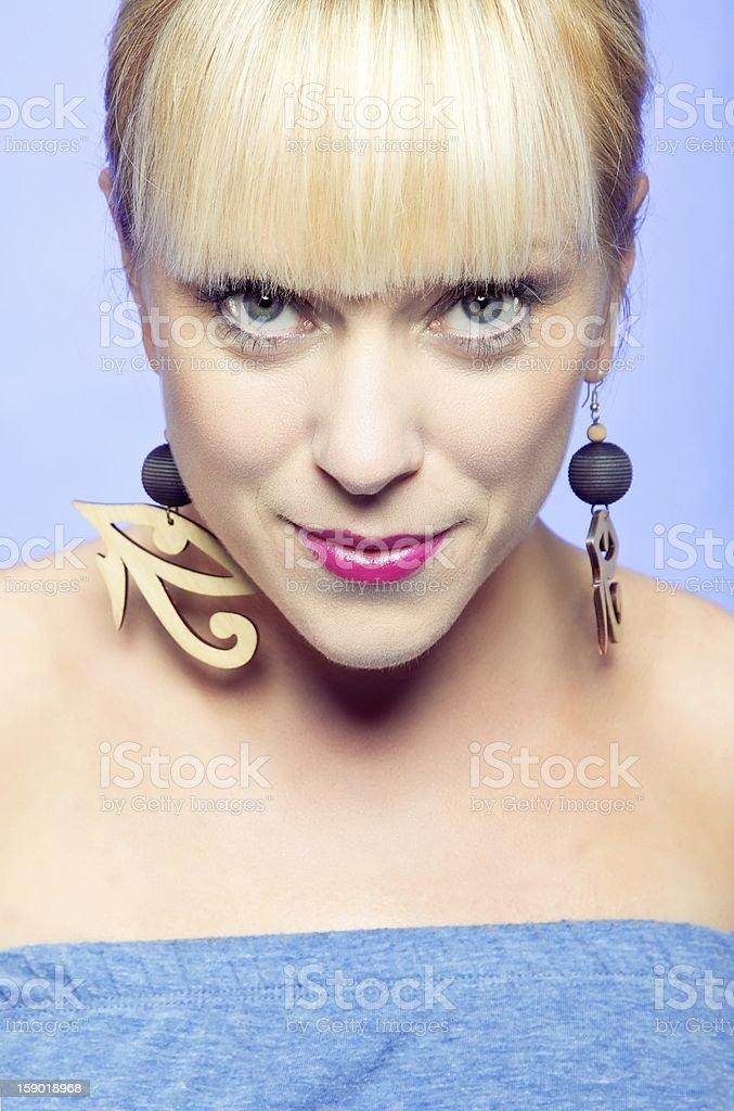 Fashionable Woman Looking at the Camera royalty-free stock photo