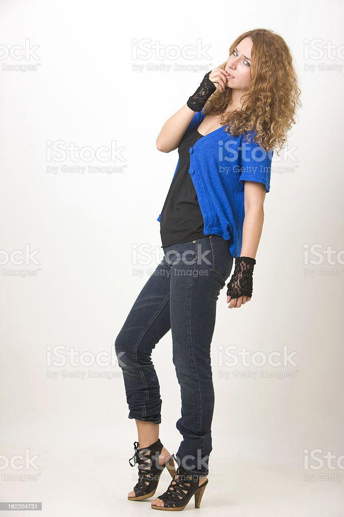 Fashionable woman royalty-free stock photo