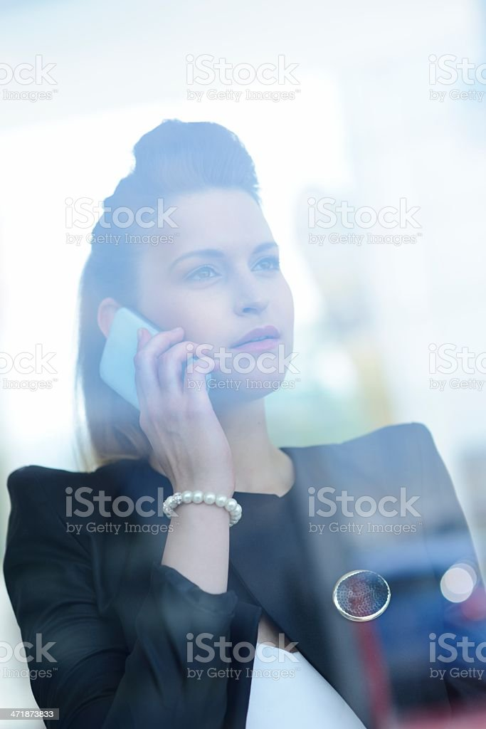 Fashionable Woman Using Smartphone royalty-free stock photo