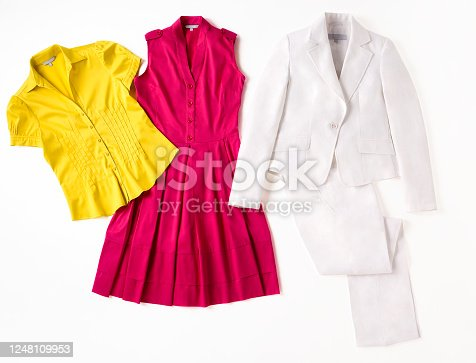 Fashionable women's clothing isolated on white background(with clipping path)