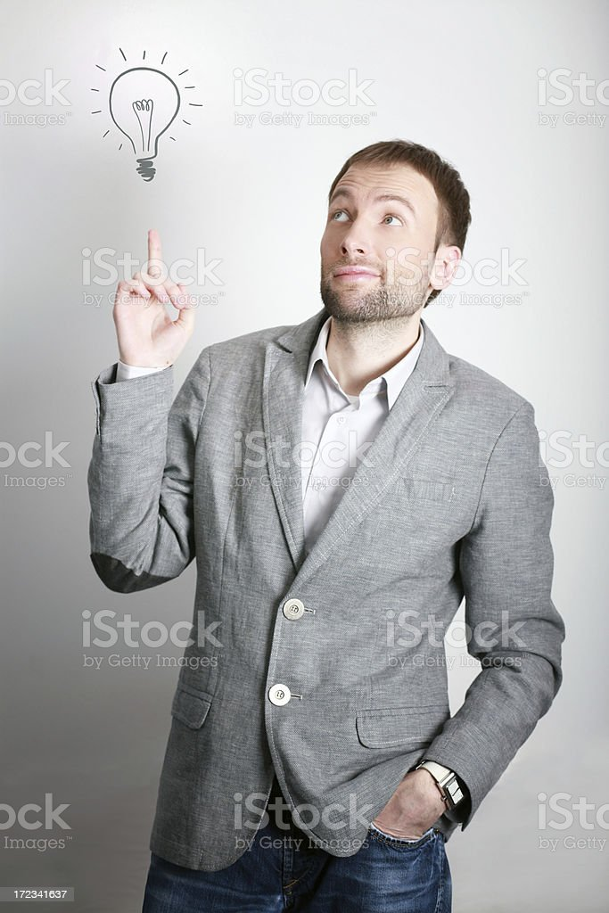 Fashionable young businessman with an idea royalty-free stock photo