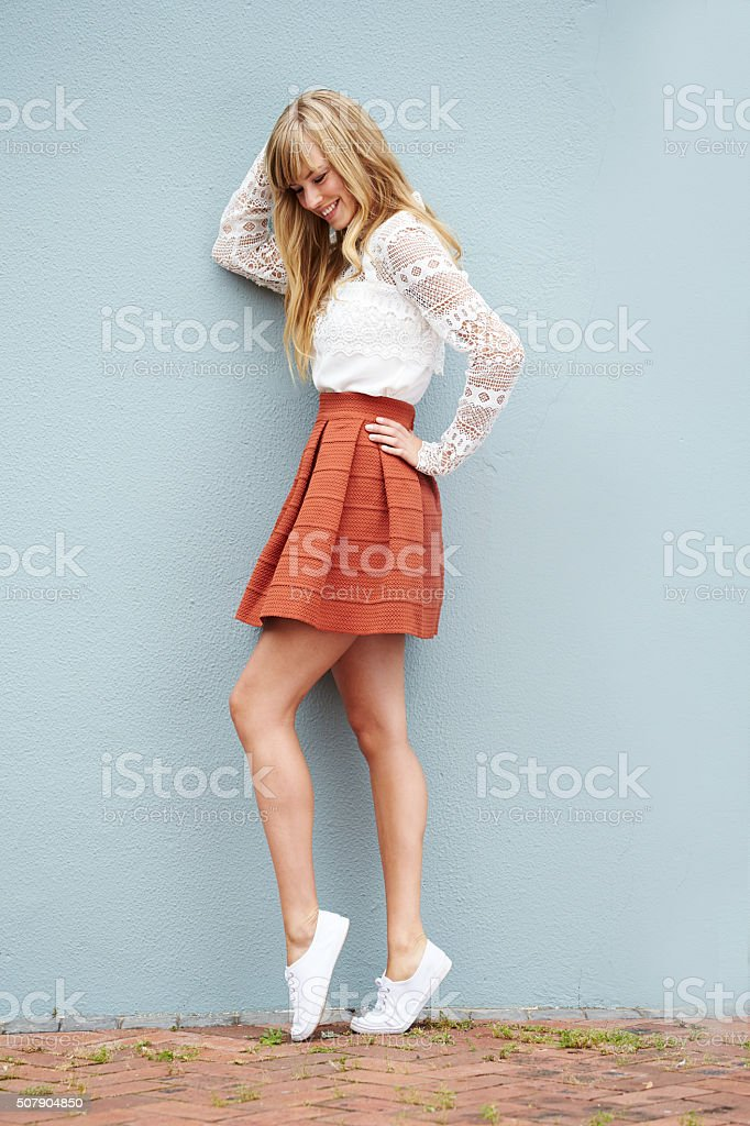 Fashionable young lady stock photo