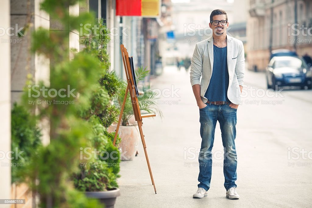 Fashionable Young Man stock photo