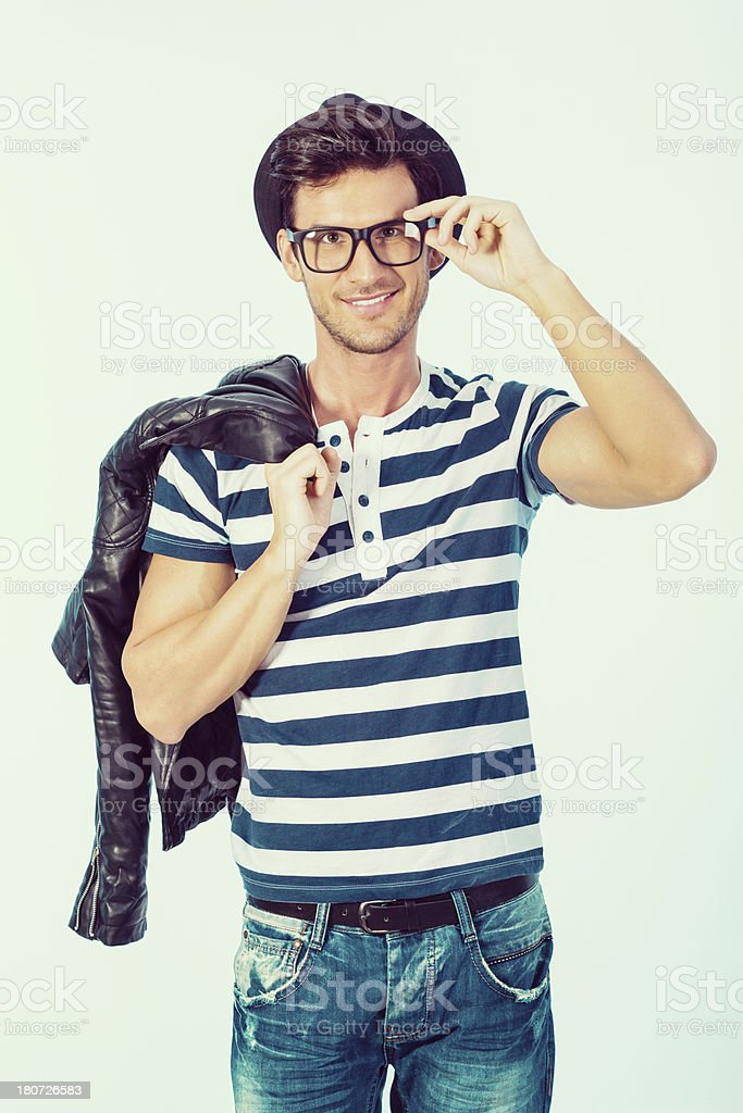 Fashionable young man posing royalty-free stock photo