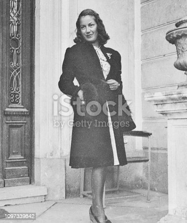 Fashionable Young Woman in 1941
