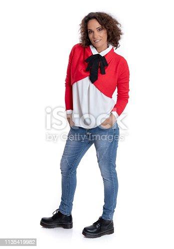 istock Fashionably dressed mature woman 1135419982