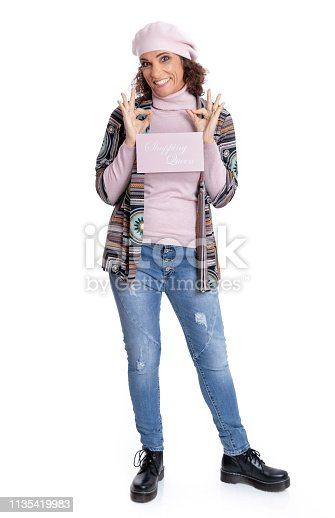 istock Fashionably dressed mature woman 1135419983