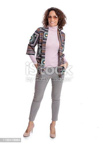 istock Fashionably dressed mature woman 1135419984