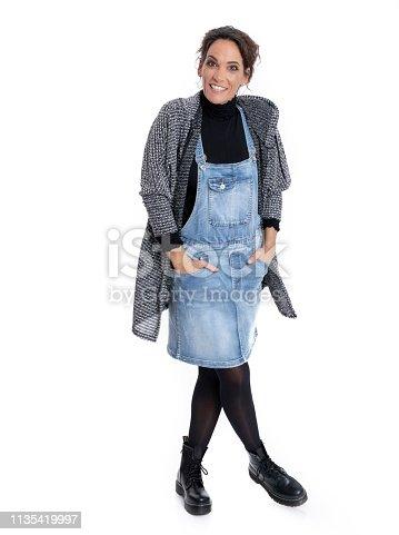 istock Fashionably dressed mature woman 1135419997