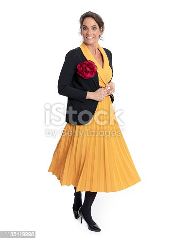 istock Fashionably dressed mature woman 1135419998