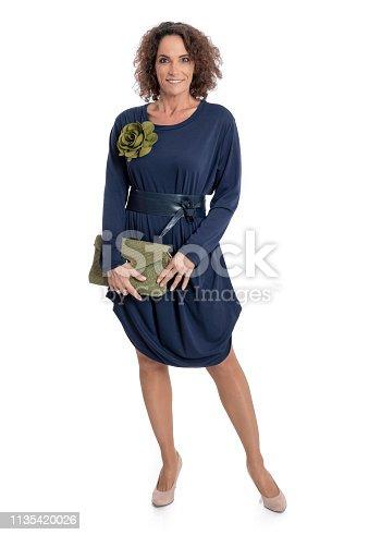 istock Fashionably dressed mature woman 1135420026