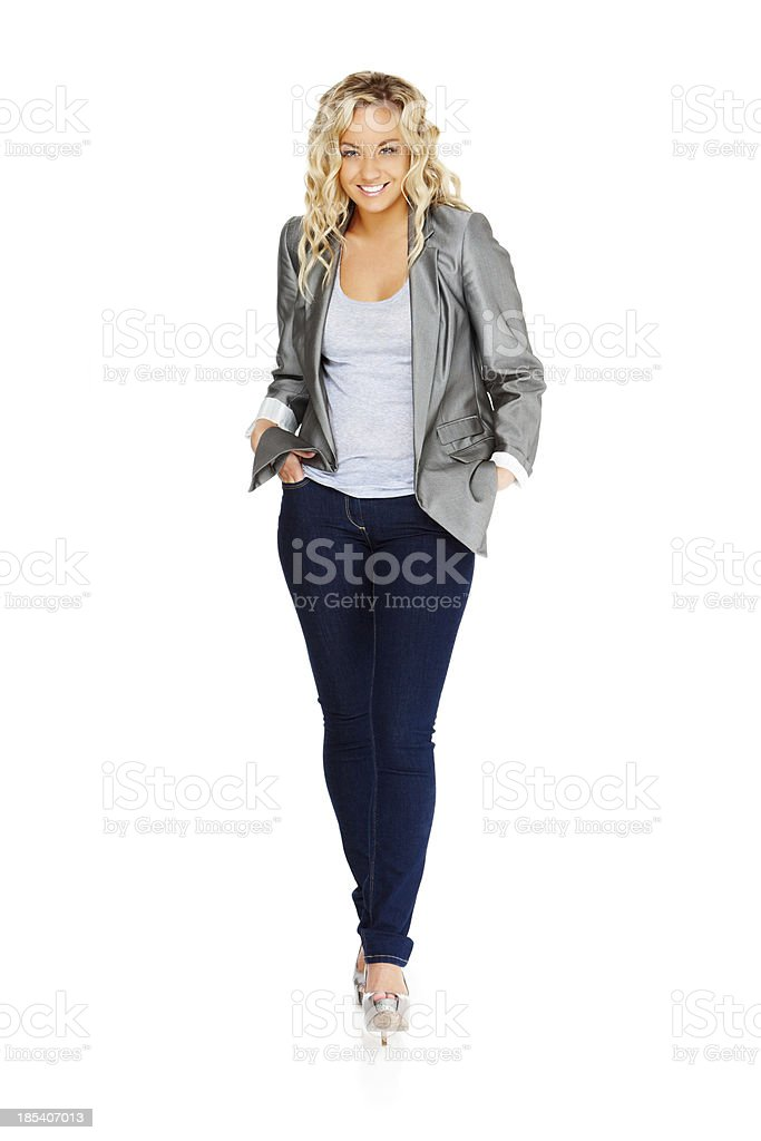 Fashionably Dressed Young Woman royalty-free stock photo
