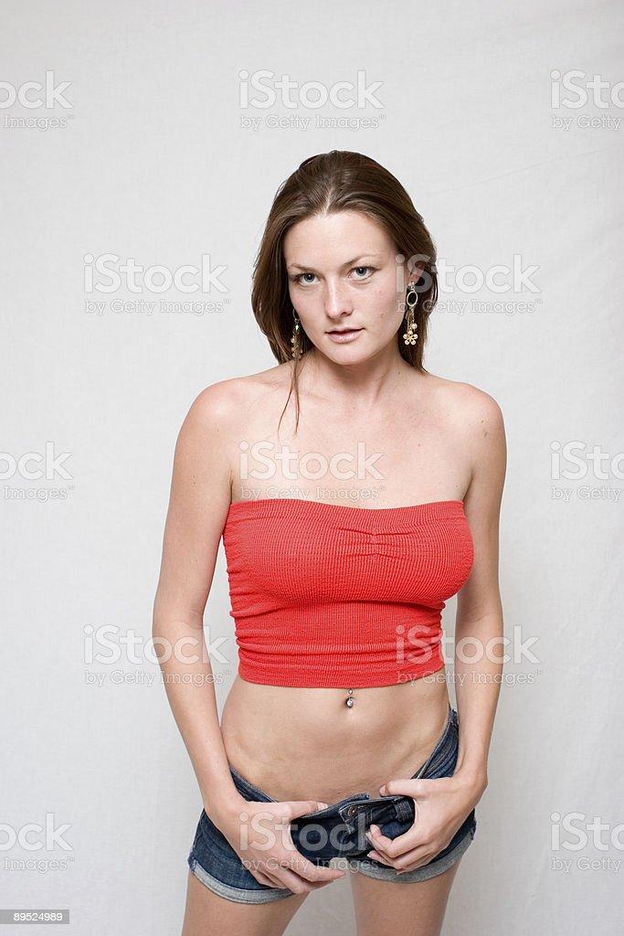 Fashionably Posing royalty-free stock photo