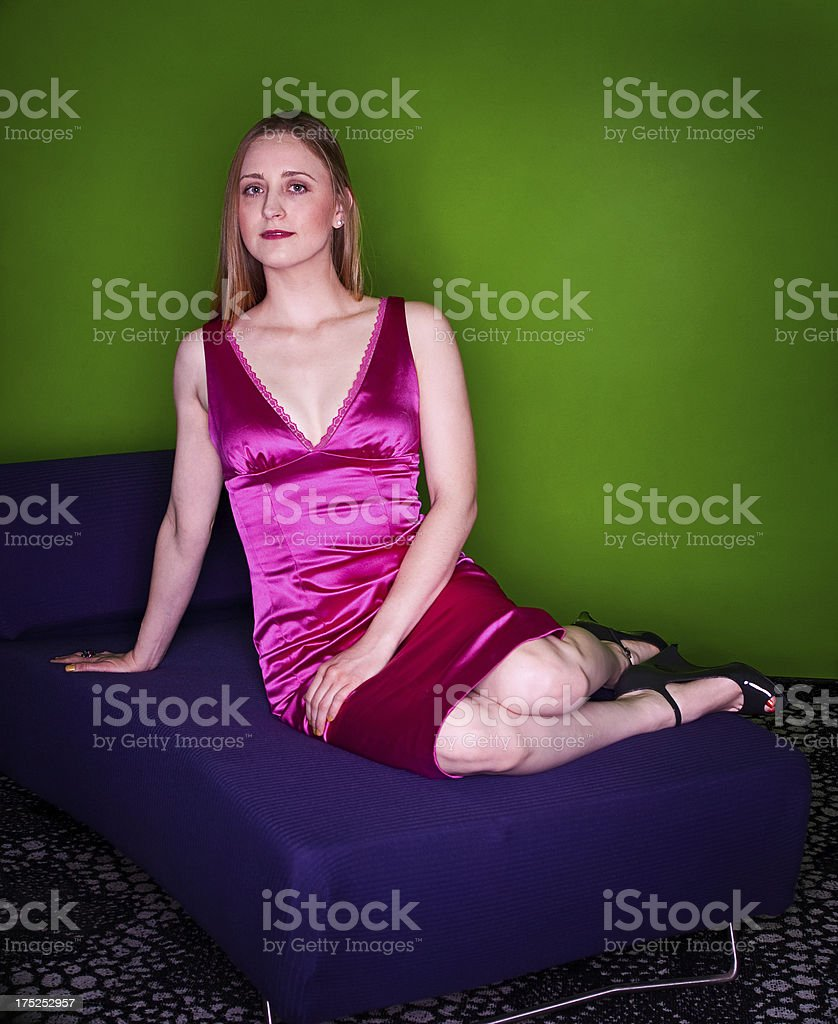 Fashonable Woman Sitting royalty-free stock photo