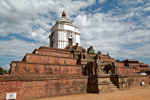 Fasidega temple in Bhaktapur stock photo