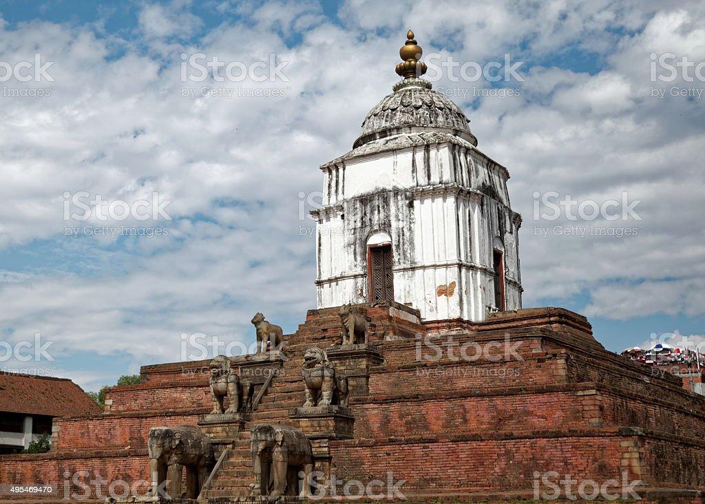 Fasidega temple in Bhaktapur stock photo