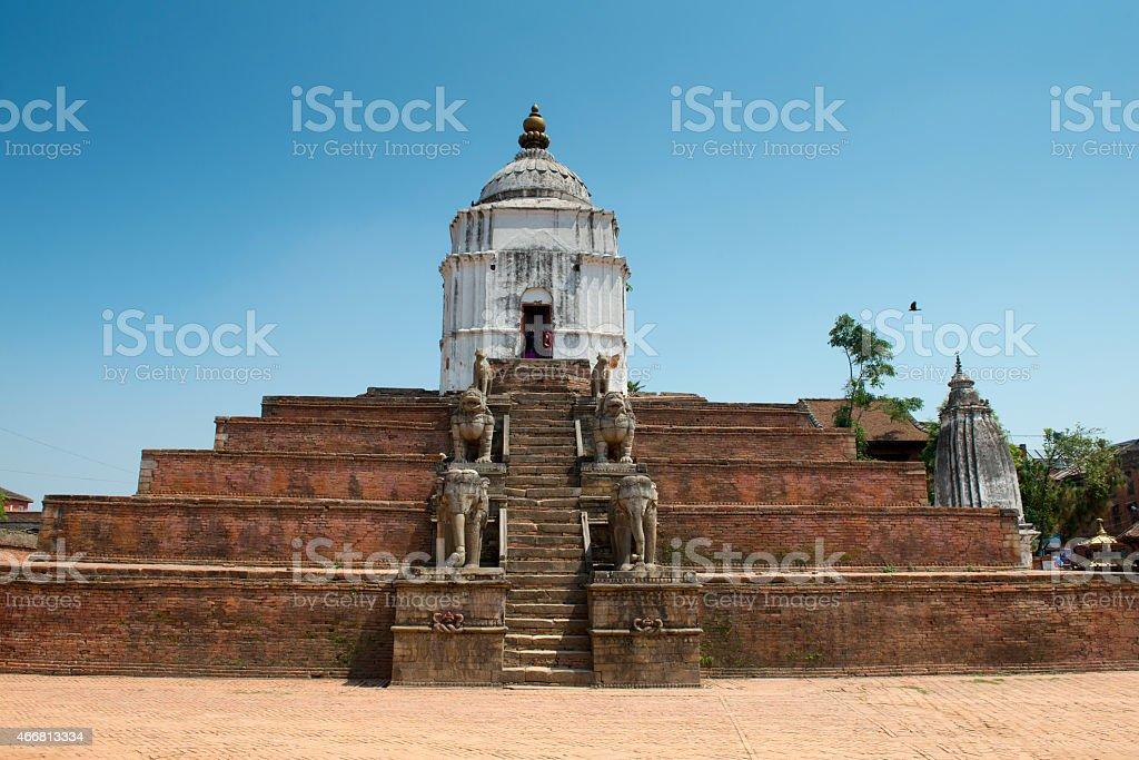 Fasidega Temple on a Durbar square of Bhaktapur stock photo