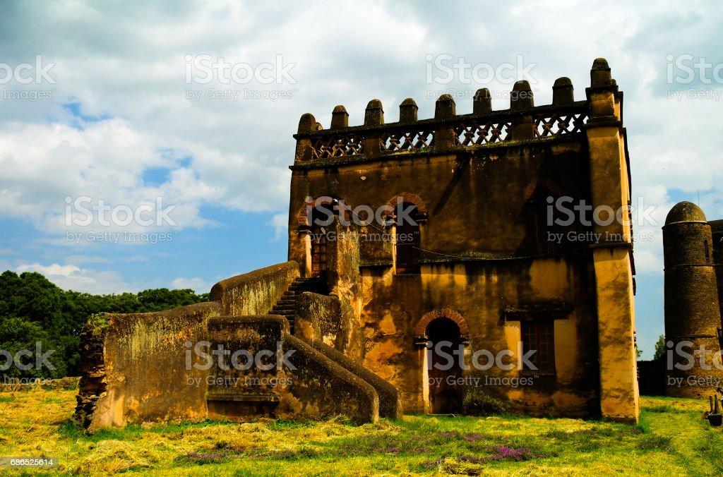 Fasilidas bibliotheek in Fasil Ghebbi site, Gonder, Ethiopië royalty free stockfoto