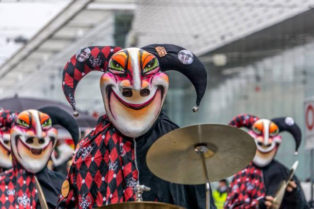fasnacht karnival - fasnacht stock-fotos und bilder